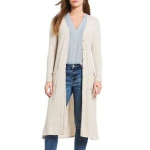 Gibson & Latimer Ribbed Topper Knit Maxi Cardigan